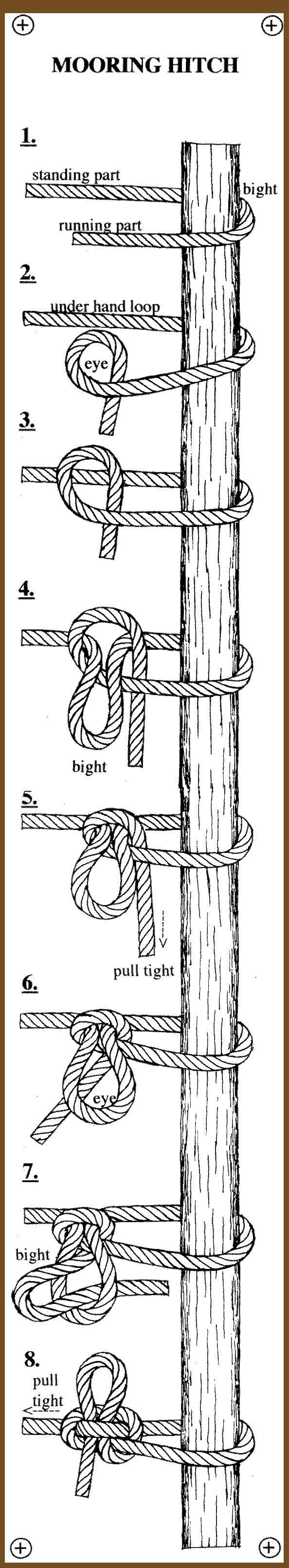 http://www.paracordist.com repin : mooring hitch #knot