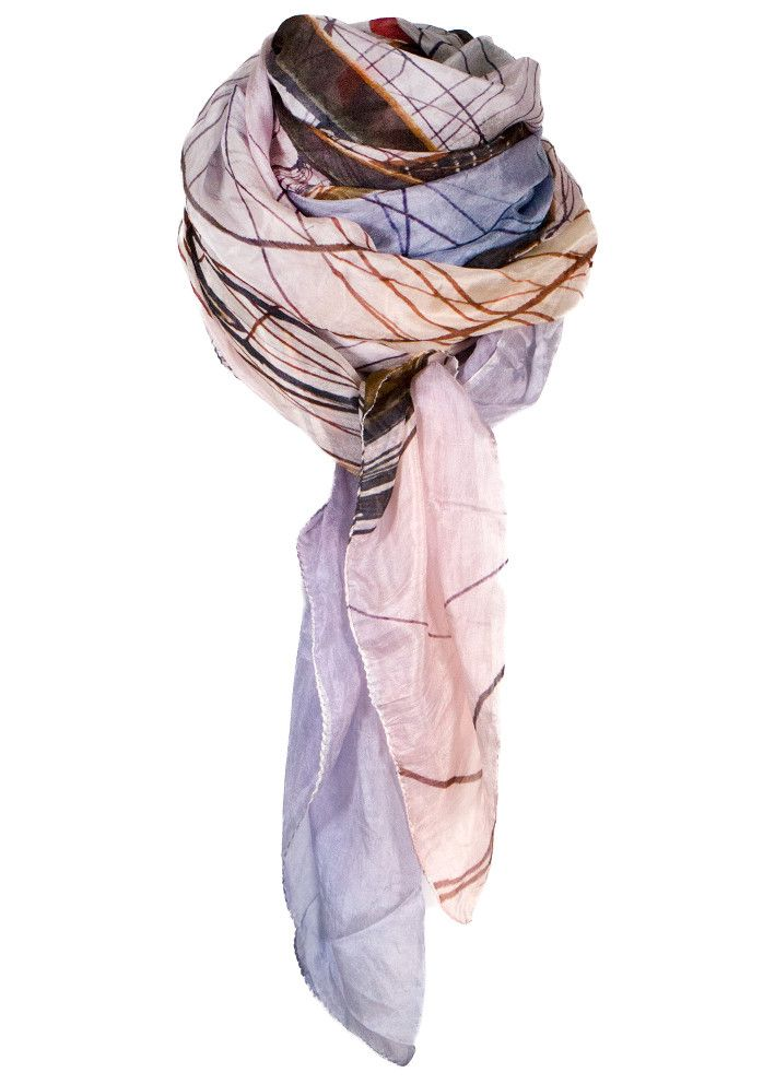 By Birdie Silketørklæde - Silk Art Scarf - Radich By Night – Acorns