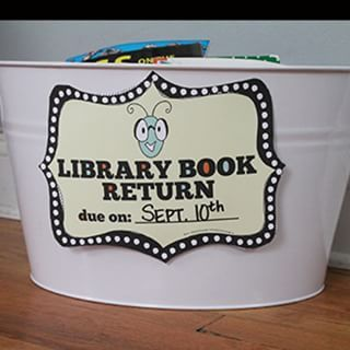 Manage your student's library books with a specially designated bin. | 35 Cheap And Ingenious Ways To Have The Best Classroom Ever