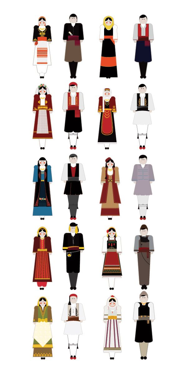 Traditional Garments of Greece by Penny Zevoli, via Behance