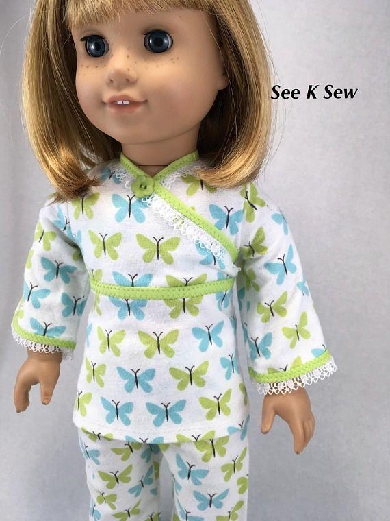 18 inch American Girl doll pajamas flannel 18 inch doll AG