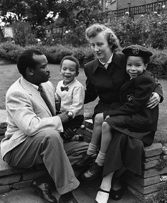 The first President of Botswana and his Wife. Interracial Relationships that Changed History