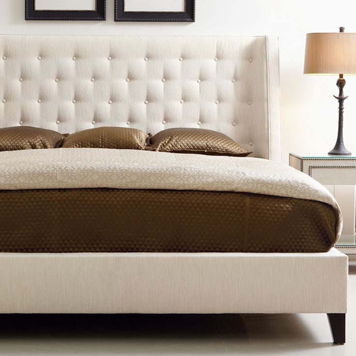 Bernhardt Interiors. Maxime Platform Wing Bed With Tufted Upholstery