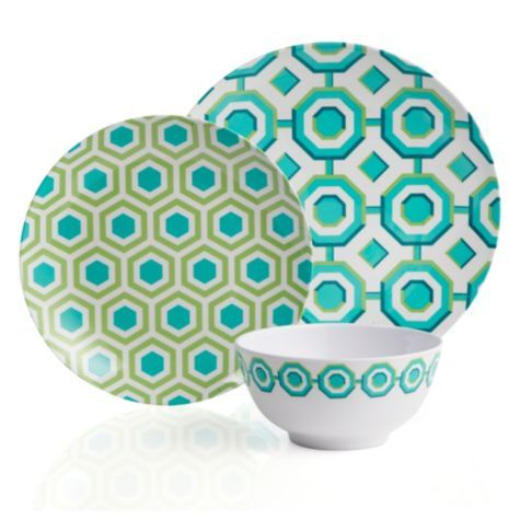 Perspective Dinnerware - Sets of 4 - Aquamarine from Z Gallerie