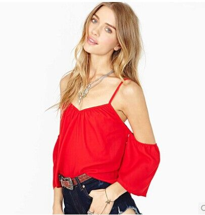 Mulheres Blusas Plus Size mulher Chiffon blusa senhoras Halter encabeça roupas fora do ombro camisas mulheres Blusas Femininas Tropical em Blusas de Roupas e Acessórios Femininos no AliExpress.com | Alibaba Group