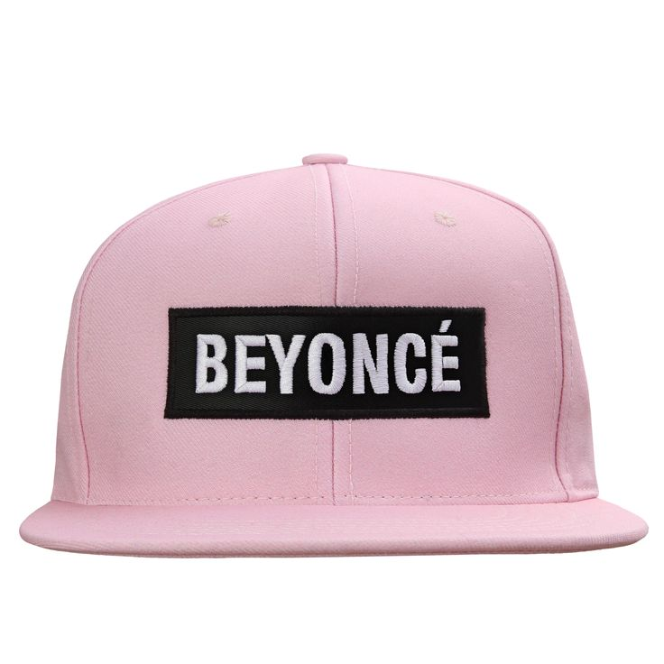 "Pink snapback hat with ""BEYONCÉ"" label on front.This item is a pre-order and we expect items to start shipping in the next two weeks."