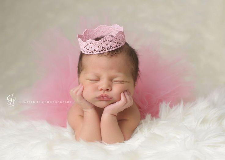 Tutu and crown set blush pink newborn tutu girls infant baby