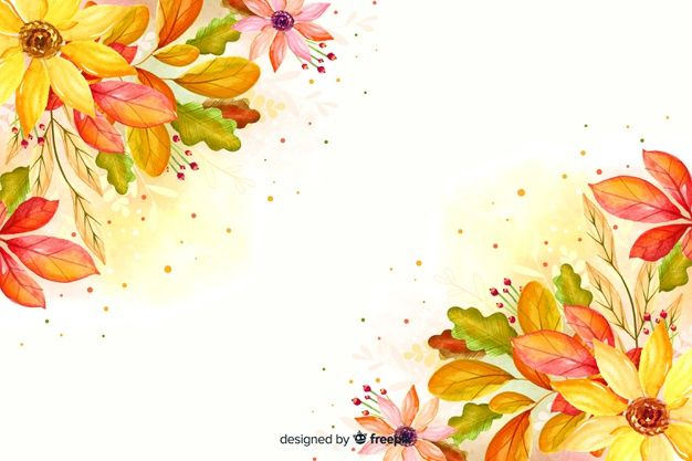 Download Watercolor Autumn Leaves Background For Free In 2020