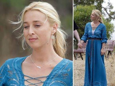Nina Proudman Fashion: 'Summer 13' Collection Blue maxi dress by Natasha http://www.natasha.net.au