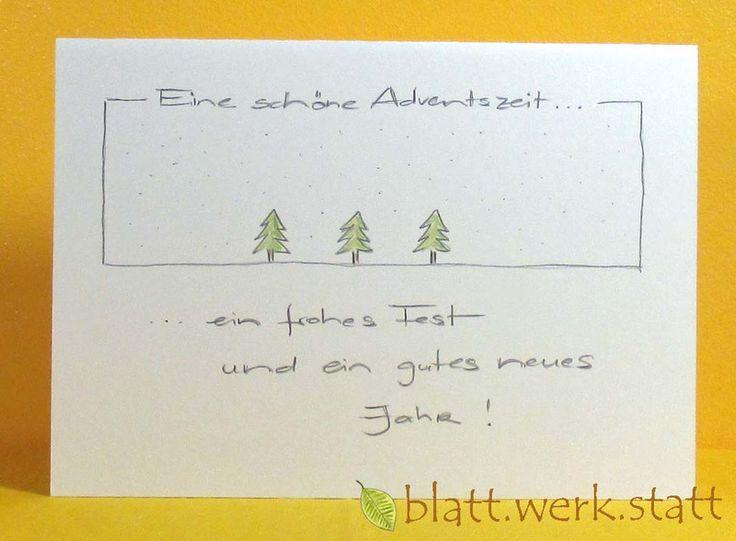 Weihnachten - Glückwunschkarte Weihnachten Advent handgemalt in. - ein Designerstück von blattwerkstatt bei DaWanda