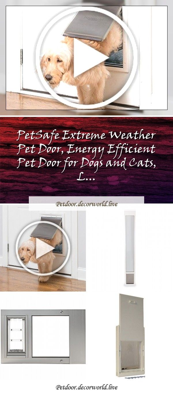 Petsafe Extreme Weather Pet Door Energy Efficient Pet Door For Dogs And Cats L In 2020 Pet Door Pets Dog Door
