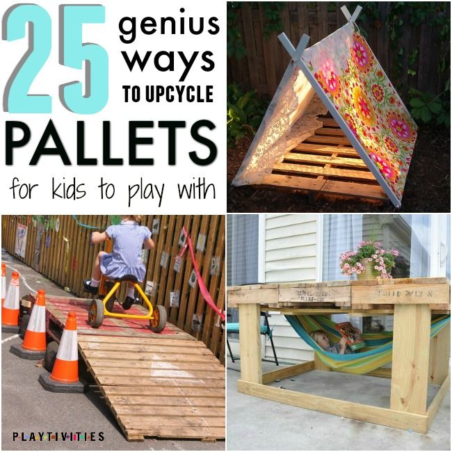 Ideas And Designs For Your Alfresco: 25 Fun Pallet Projects Your Kids Will Appreciate