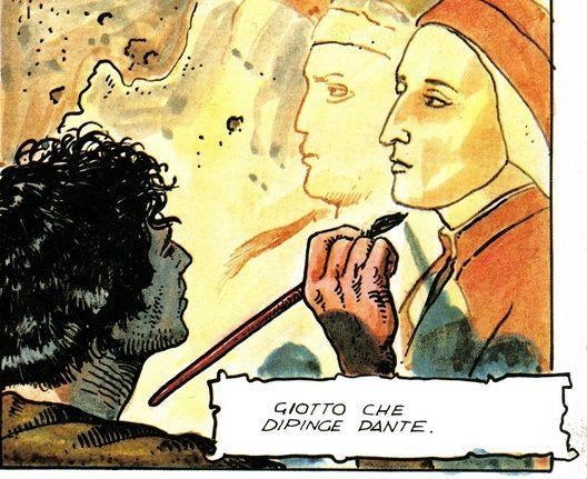 Dante visto da Milo Manara in La Storia d'Italia di Enzo Biagi