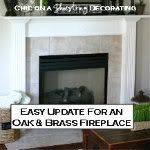Easy update for a brass fireplace, Chic on a Shoestring Decorating blog