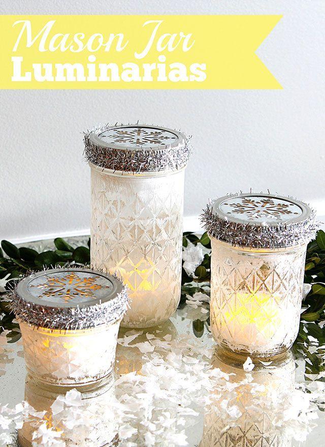 Mason Jar Christmas Luminarias Christmas Decoration