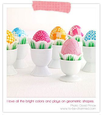 Washi tape Easter eggs, love this use of Washi tape!!