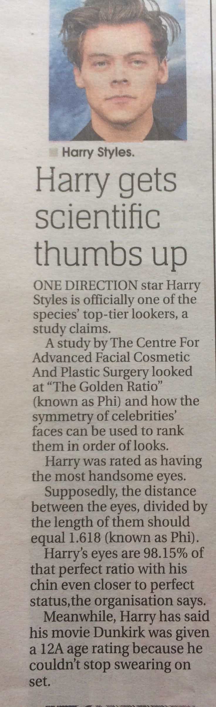 SO HARRY IS PERF AND WE HAVE LIKE SCIENTIFIC PROOF LOLOL