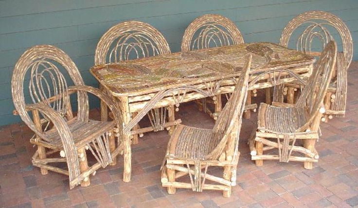Western Ranch Dining Willow Furniture Gift Shop High Quality Rustic Lodge Country Mountain