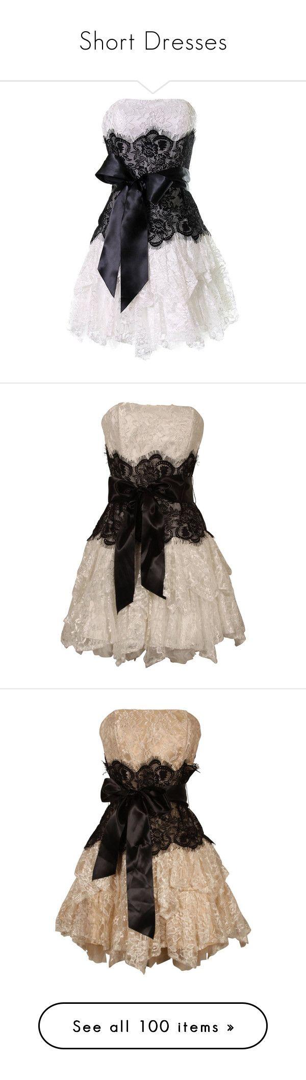 """Short Dresses"" by soledad-trinidad ❤ liked on Polyvore featuring dress, dresses, plus size lace dress, short prom dresses, plus size prom dresses, women plus size dresses, black strapless dress, vestidos, short dresses y vestiti"
