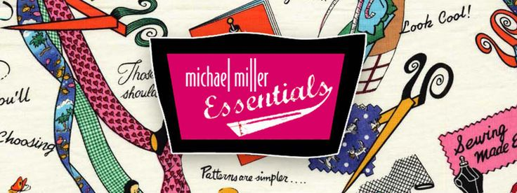 MICHAEL MILLER ESSENTIALS I LOVE EVERYTHING IN THIS COLLECTION! ALL the vintage and cats and home ec. Bernie dexter uses these fabrics in her dresses!