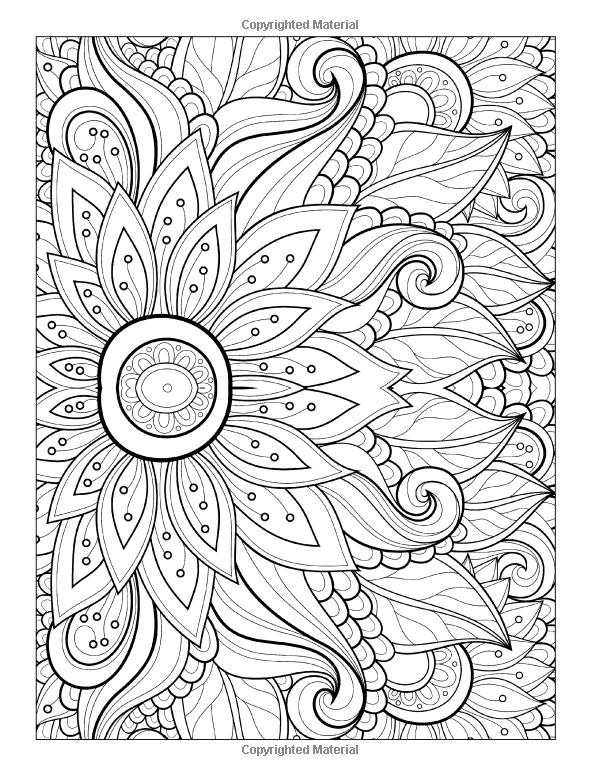 flower pattern coloring pages - adult coloring pages patterns flowers just colorings