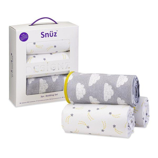 Snuz Crib Bedding Set in Cloud Nine - The Little Green Sheep