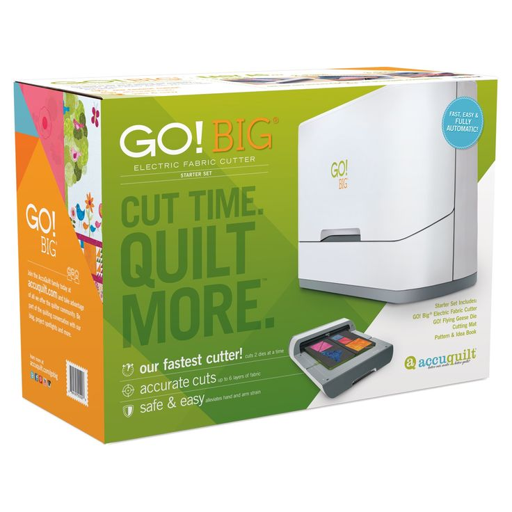 GO! Big Electric Fabric Cutter Starter Set (55500) - Packaging shown (front).