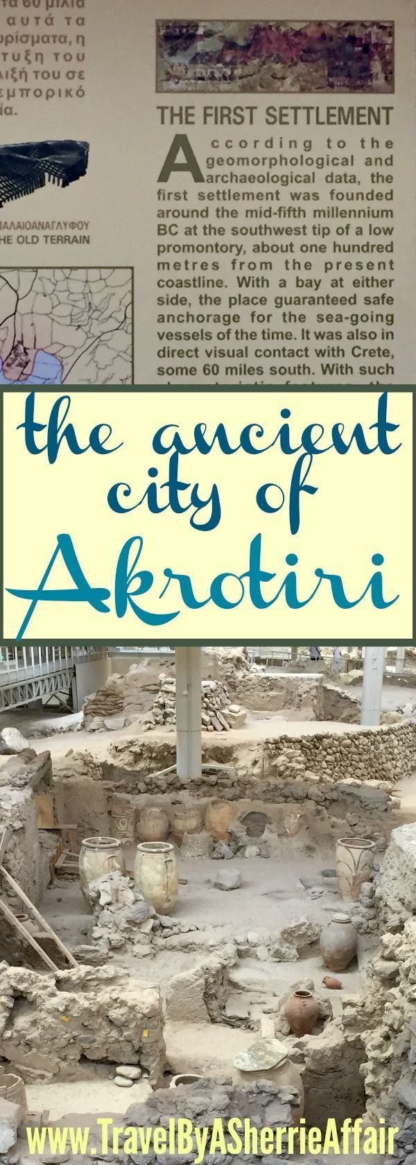 Akrotiri is a must visit when on the island of Santorini Greece.  An archaeological site that has a lot of history to see! #history #Archaeology #Greece #Santorini