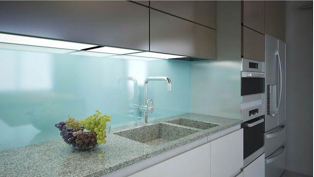 Wandbekleding met gelakt glas (o.a. in keukens)   Vigoureux Glaswerken