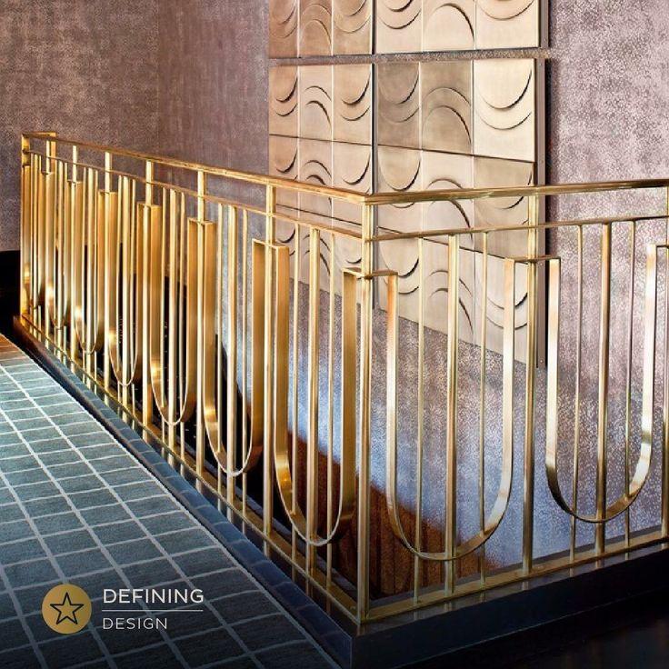 Gold strikes a balance between luxury and fashion, and the shade itself matches everything. Designed by Kelly Wearstler. #MenasheDesign #DefiningDesign #NYC #InteriorDesign #Details #HomeCaring #Tips #HomePolish #hotnow #ElleDecor