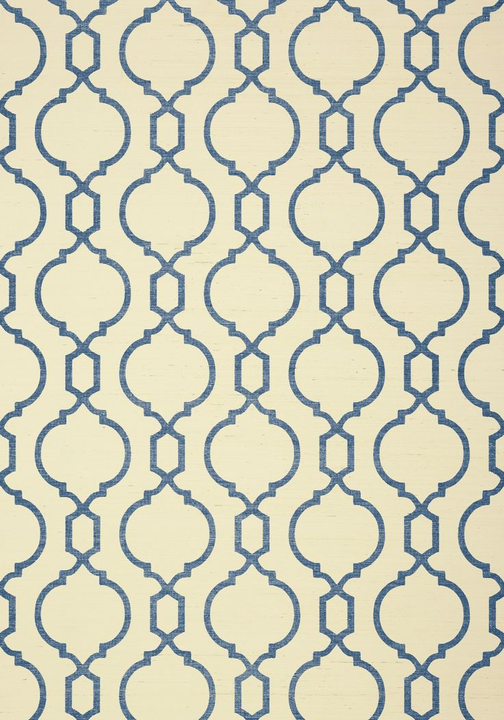 CORTNEY, Blue on Cream, T11074, Collection Geometric Resource 2 from Thibaut
