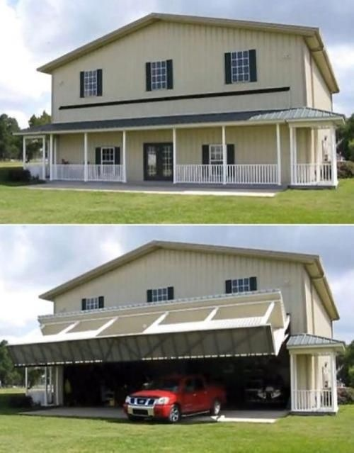 Amazing Garage that looks like a house! I would park my planes in ...