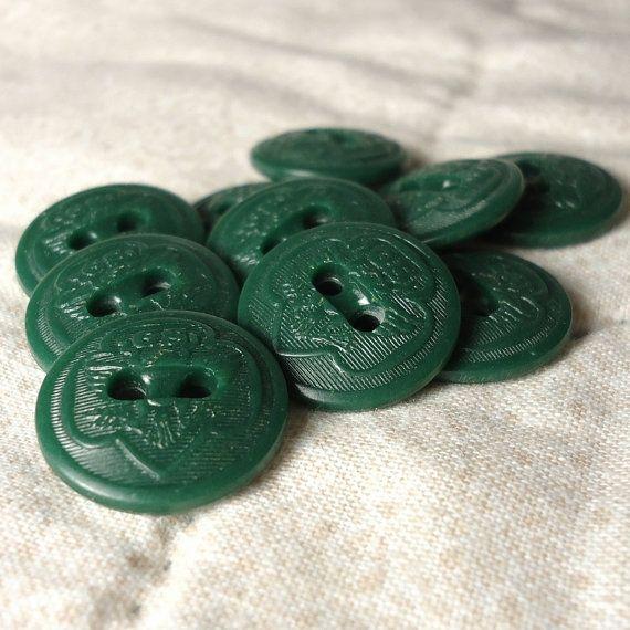 Vintage Girl Scout Uniform Buttons