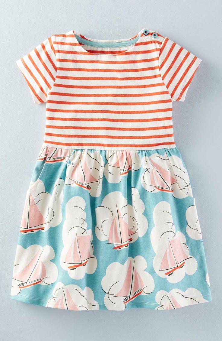 Mini Boden 'Hotchpotch' Jersey Dress (Toddler Girls, Little Girls & Big Girls)