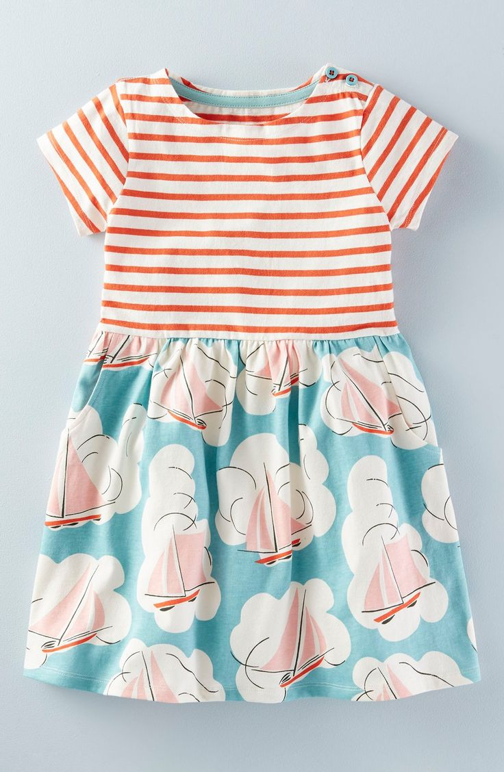 Mini Boden 'Hotchpotch' Jersey Dress (Toddler Girls, Little Girls & Big Girls)