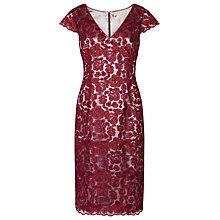 Buy Jacques Vert Lace Shift Dress, Dark Red Online at johnlewis.com