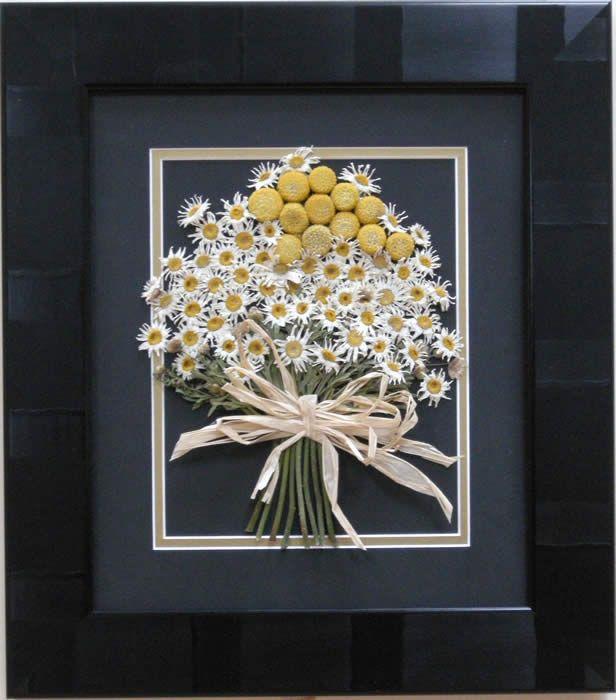 pressed bouquet framed