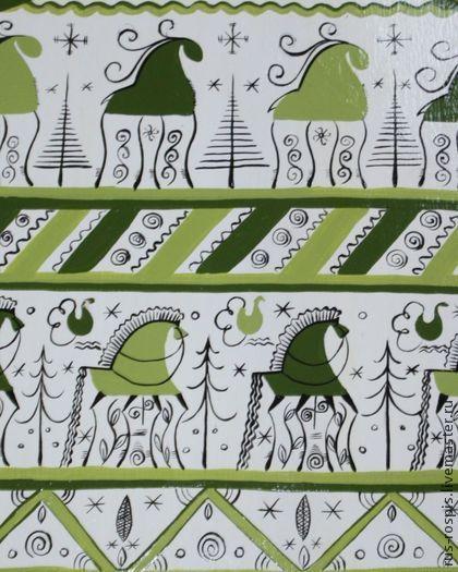 """Посуда ручной работы. Ярмарка Мастеров - ручная работа Доска разделочная расписная """"Мезенская"""". Handmade."""