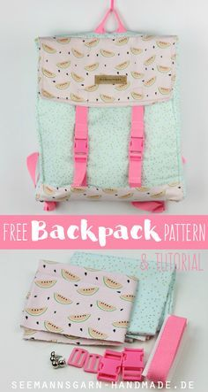 Free Backpack Pattern & Tutorial | Seemannsgarn