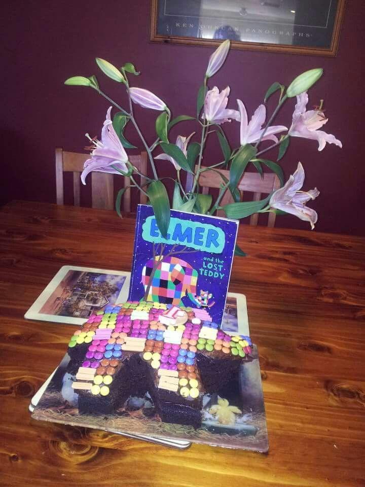 Elmer the elephant for patrick birthday cake kids