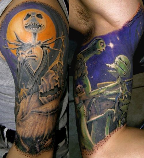 NBC tattoo idea..want the doll stitching going along my arm/shoulder