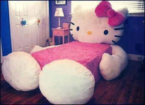 Pink hello kitty bed