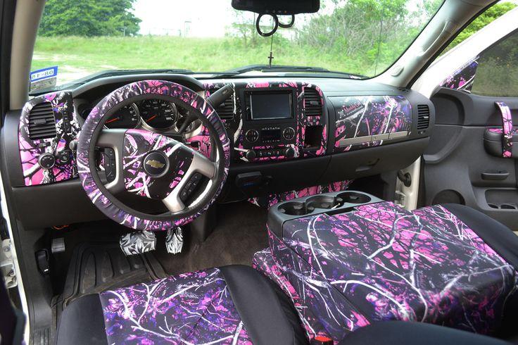 My 2013 Silverado interior- Muddy Girl Camo all the way!
