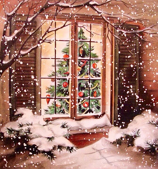 Christmas window card.