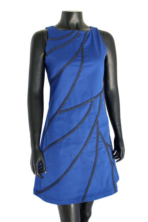 Robe Clayria de chez Chilia en coton bleu roi
