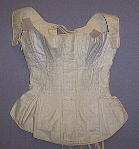 Quilted corset, 1805. In the University of Alberta Museums costume collection.