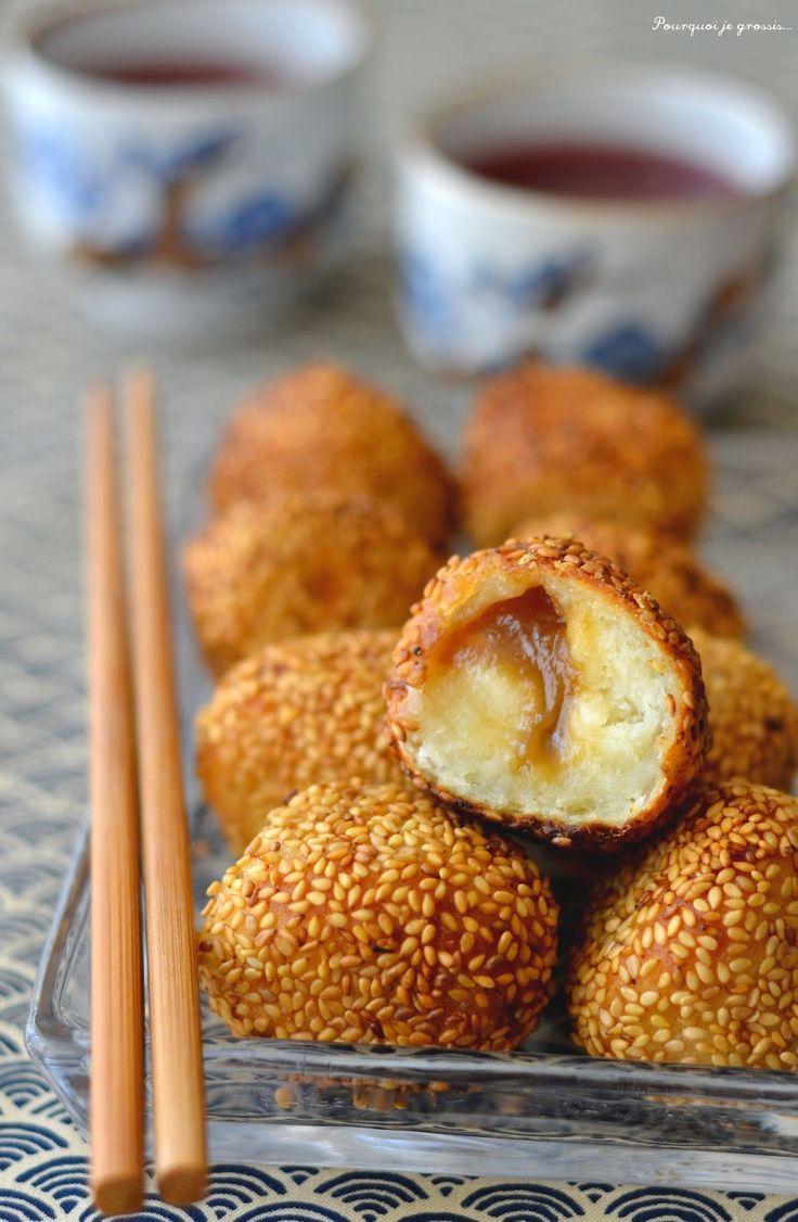 Pourquoi je grossis ...                          : Bánh Cam -  Bouchées vietnamiennes au sésame, save...