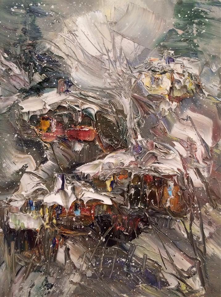 Wintertime 30/40 cm, oil on canvas