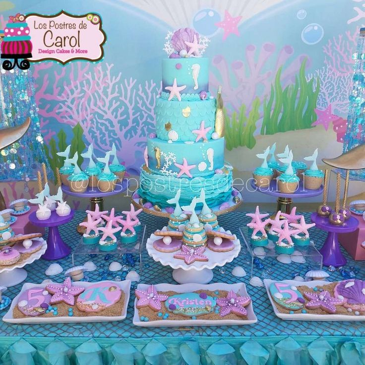 Best 25 mermaid birthday cakes ideas on pinterest mermaid cakes mermaid theme birthday and - Party decorations ideas ...