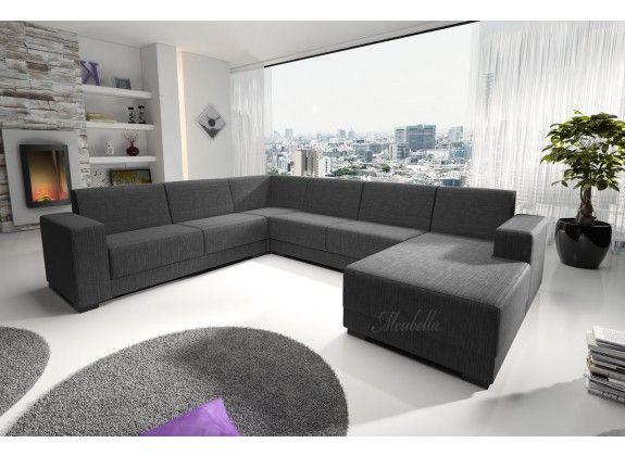 Hoekbank Genius is een ruime hoekbank met een strak en tijdloos design. Genius bestaat uit twee zitgedeeltes en een ruime lounge, zodat er voldoende zitplaatsen zijn voor het gehele gezin. De bekleding van de hoekbank is gemaakt van een fijne stof in een grijze kleur.